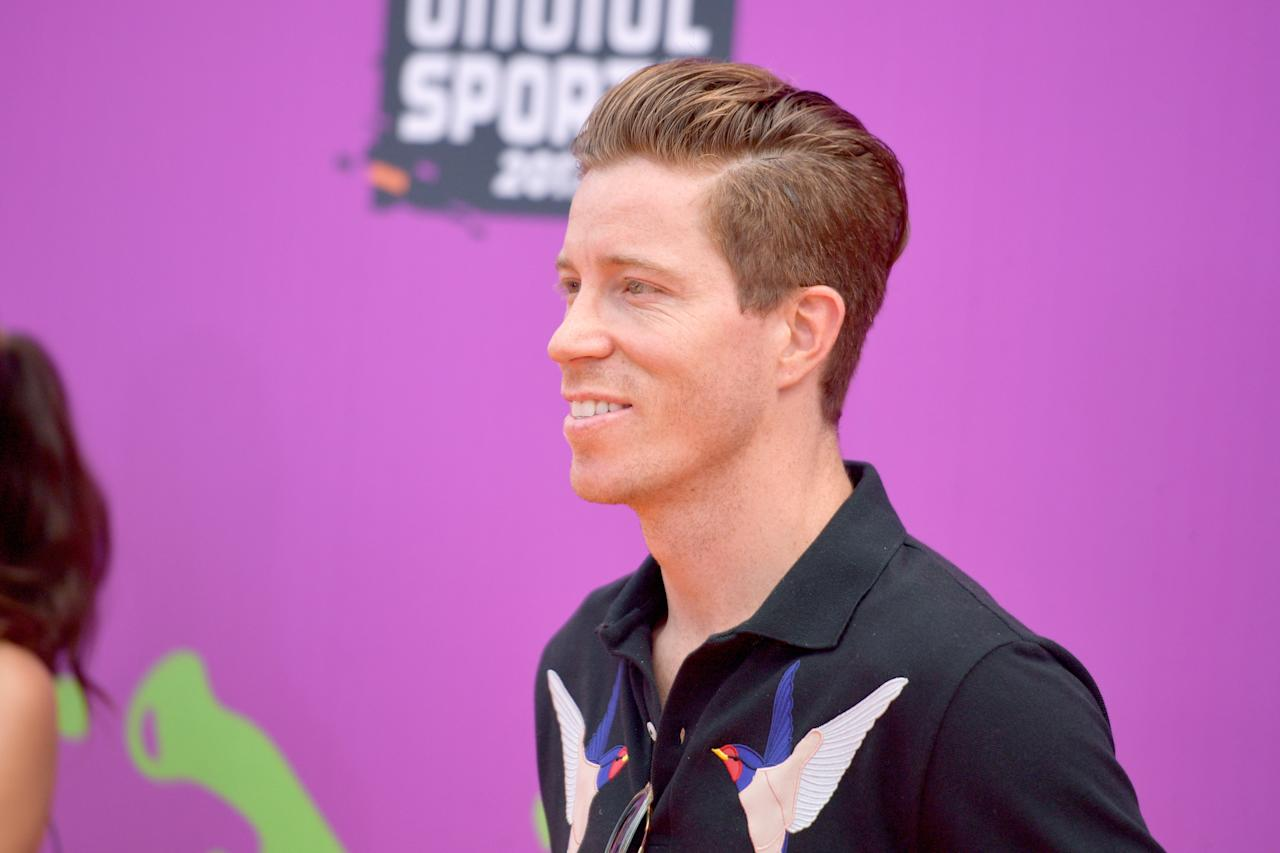 <p>Professional snowboarder Shaun White attends Nickelodeon Kids' Choice Sports Awards 2017 at Pauley Pavilion on July 13, 2017 in Los Angeles, California. (Photo by Matt Winkelmeyer/Getty Images) </p>
