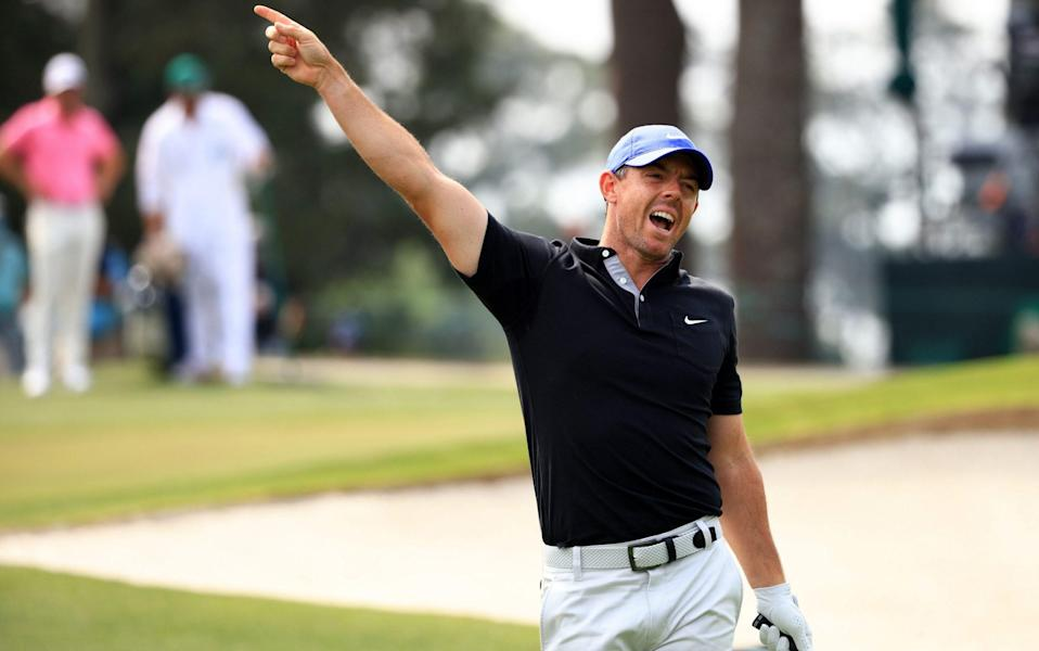 "Rory McIlroy shouts ""fore"" - GETTY IMAGES"