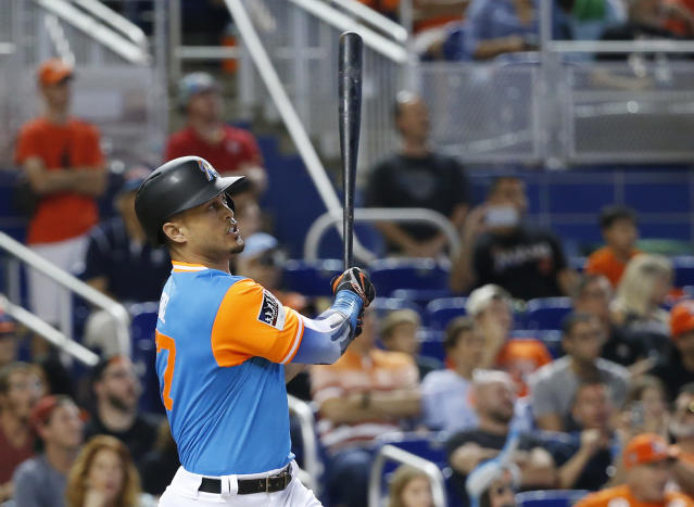 Giancarlo Stanton cannot be stopped right now. (AP Photo/Wilfredo Lee)