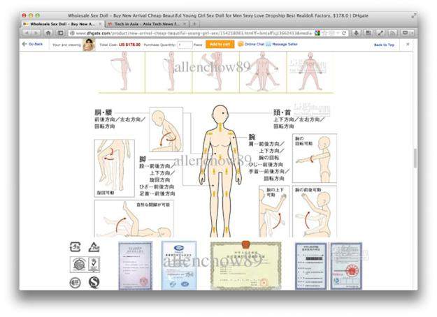 Chinese e-commerce site draws anger for global sales of child-size sex doll - 4
