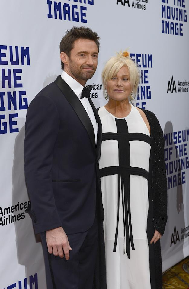 NEW YORK, NY - DECEMBER 11:  Actor Hugh Jackman and his wife Deborra-Lee Furness arrive at the Museum Of Moving Images Salute To Hugh Jackman at Cipriani Wall Street on December 11, 2012 in New York City.  (Photo by Larry Busacca/Getty Images)