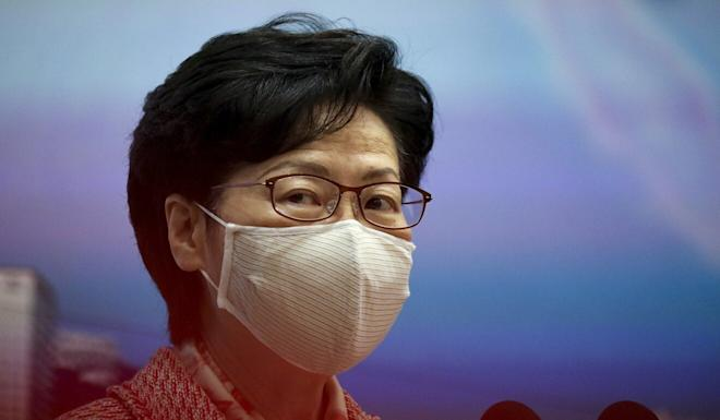 Chief Executive Carrie Lam Cheng Yuet-ngor is one of 11 Hong Kong and mainland officials sanctioned by American authorities over the city's national security law. Photo: Nora Tam
