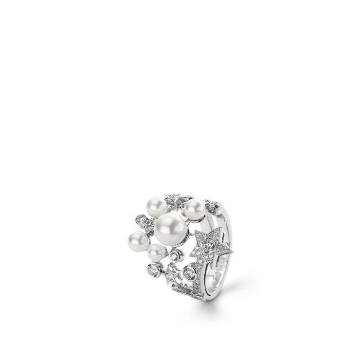 """<p><a class=""""link rapid-noclick-resp"""" href=""""https://go.redirectingat.com?id=127X1599956&url=https%3A%2F%2Fwww.chanel.com%2Fgb%2Ffine-jewellery%2Fp%2FJ10213%2Fcomete-perlee-ring%2F&sref=https%3A%2F%2Fwww.harpersbazaar.com%2Fuk%2Ffashion%2Fjewellery-watches%2Fg32891019%2Fbest-birthstone-jewellery-june%2F"""" rel=""""nofollow noopener"""" target=""""_blank"""" data-ylk=""""slk:SHOP NOW"""">SHOP NOW</a></p><p>The inimitable Gabrielle 'Coco' Chanel adored pearls and adopted them as a luminous style signature. This season, her eponymous luxury house has combined freshwater pearls with white gold and diamonds for a stunning cocktail ring that glistens like the night sky. </p><p>White gold, pearl and diamond ring, £12,750, Chanel</p>"""