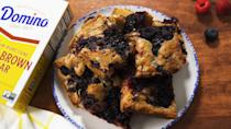 """<p>Loaded with a bounty of summer's best trio: blueberries, raspberries, and blackberries.</p><p>Get the recipe from <a href=""""https://www.delish.com/cooking/recipe-ideas/a36009008/triple-berry-blondies-recipe/"""" rel=""""nofollow noopener"""" target=""""_blank"""" data-ylk=""""slk:Delish"""" class=""""link rapid-noclick-resp"""">Delish</a>.</p>"""