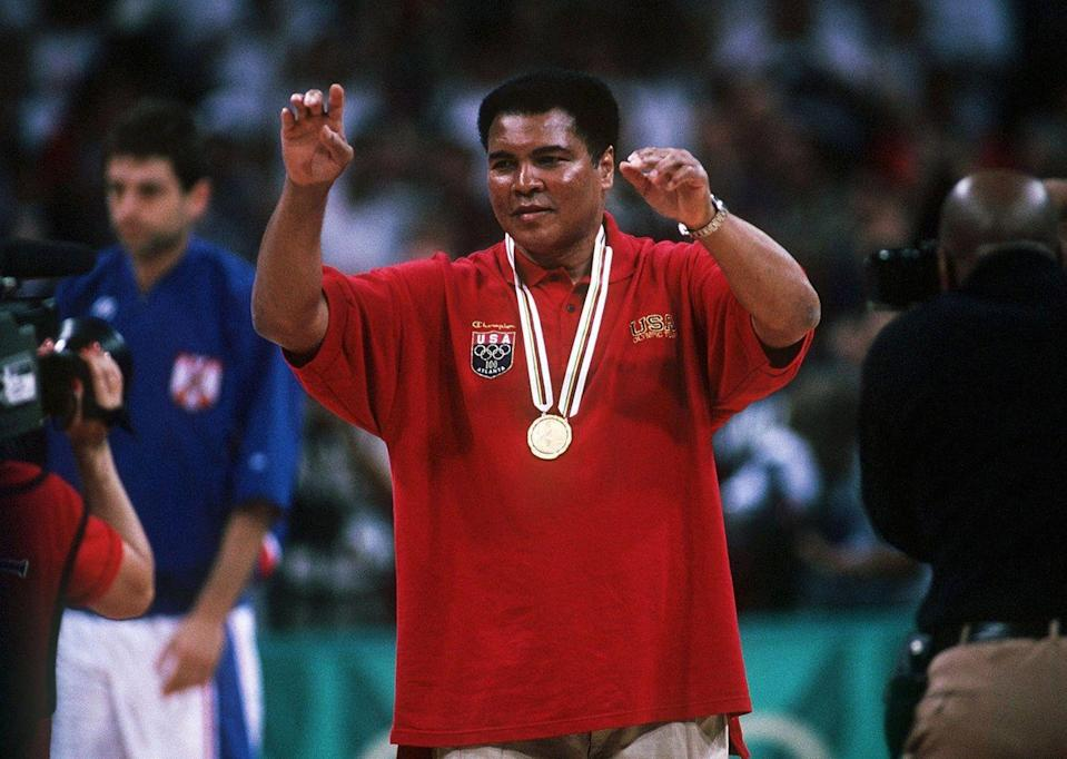 <p>Boxing legend, Muhammad Ali, was only 18 years old when he won his gold medal in 1960. However, rumor has it that after being refused at a restaurant because he was black, Ali threw his medal into the Ohio River. The boxer was presented a new medal after he lit the torch at the opening ceremony of the 1996 Summer Olympics in Atlanta, Georgia. </p>