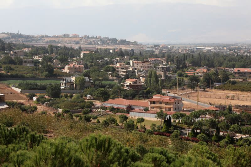 A general view of Lebanon's largely Armenian town of Anjar