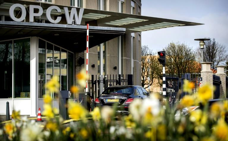 Tensions are rising at the Organisation for the Prohibition of Chemical Weapons (OPCW) in The Hague ahead of a new report expected to name culprits for attacks in Syria for the first time (AFP Photo/Koen van Weel)