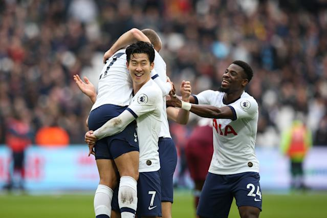 The duo's strikes sandwiched a Lucas Moura goal shortly before half time. (Photo by Craig Mercer/MB Media/Getty Images)