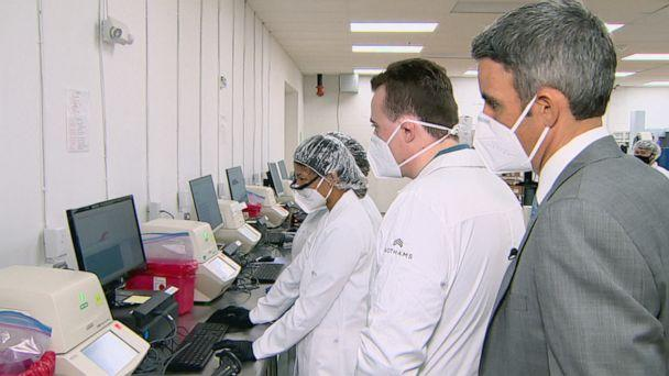 PHOTO: Curative uses the gold standard PCR testing method to detect coronavirus infections, offering results in 48 hours or less. (ABC News)