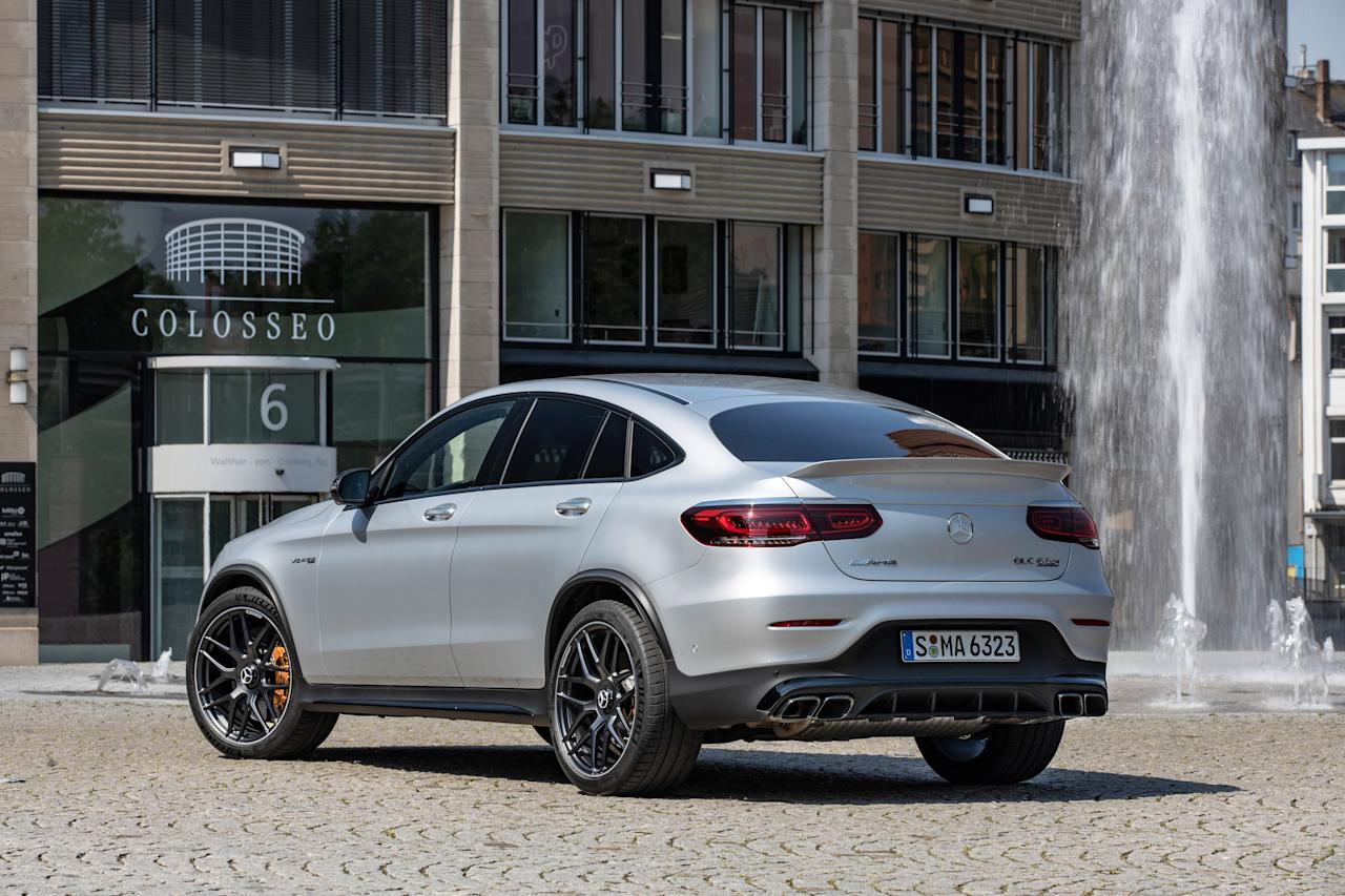 "<p>The 2020 Mercedes-AMG GLC63 S coupe is the most potent GLC available in the Mercedes lineup. Read the full story <a href=""https://www.caranddriver.com/reviews/a28084674/2020-mercedes-amg-glc63-s-coupe-drive/"" target=""_blank"">here</a>.</p>"