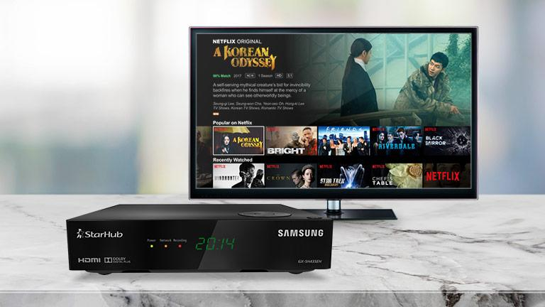 StarHub has partnered Netflix to provide the streaming service's shows in its pay TV entertainment and broadband internet service bundle. (Photo: StarHub)