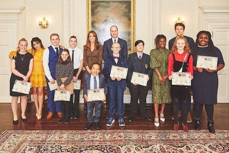 Camila Cabello with Kate Middleton, Prince William, and the Teen Heroes of 2019 | Kensington Palace/Instagram