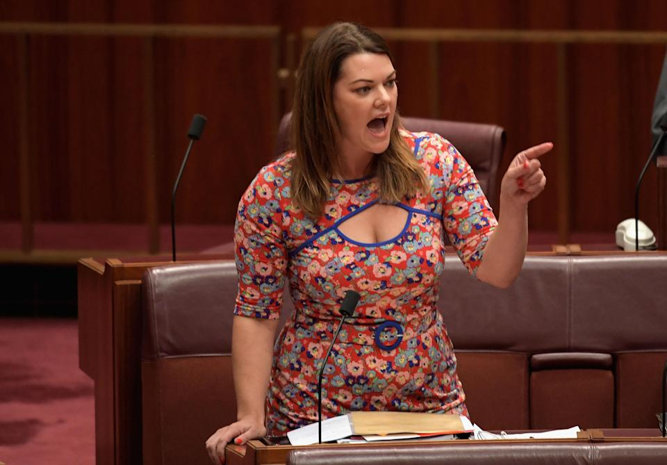 Sen. Sarah Hanson-Young. (Photo: Tracey Nearmy/Getty Images)