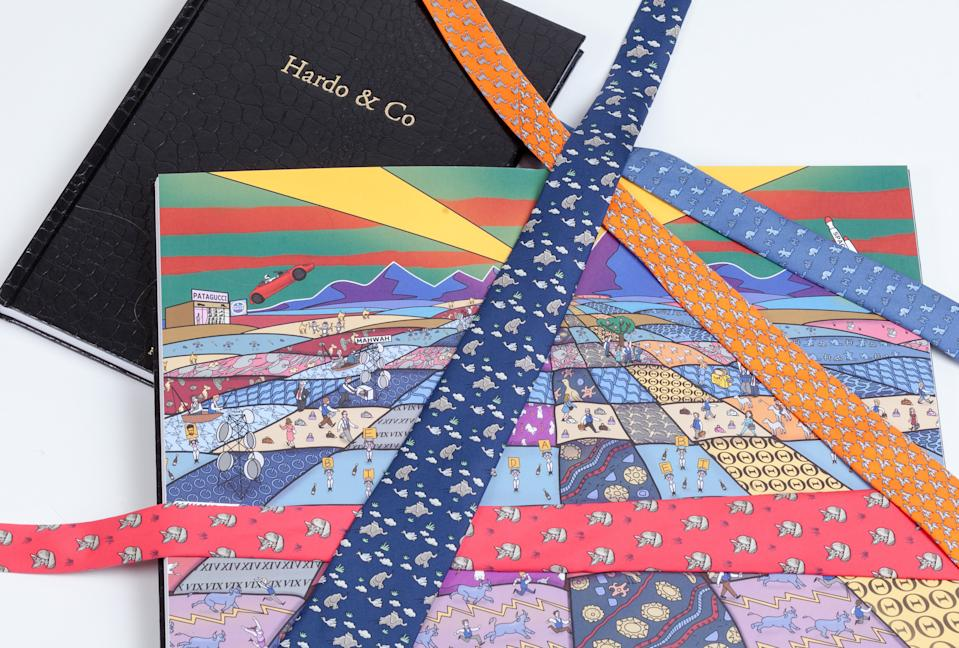 Hermes ties spread over Hardo pages celebrating bankers' love for the neckwear. Photo: Hardo