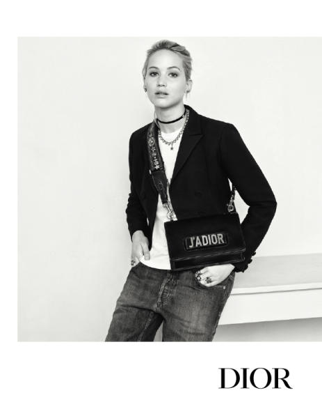 5ab905b385 Jennifer Lawrence channels laid-back chic in Dior Fall 2017 campaign