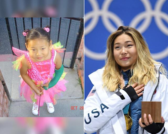 <p><strong>THEN:</strong> 5-year-old Chloe Kim plays a fairy princess.<br><strong>NOW:</strong> She's a 17-year-old snowboarding sensation and Olympic gold medalist.<br> (Photo via Instagram/chloekimsnow, Photo by Kirill Kudryavtsev/AFP/Getty Images) </p>