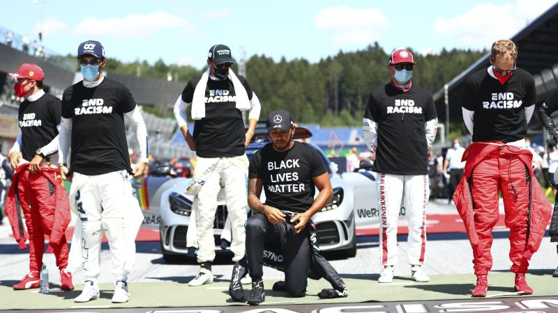 F1 Black Lives Matter display opens divide between racers