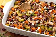 """<p>A satisfying casserole with all of your fall favorites.</p><p>Get the recipe from <a href=""""https://www.delish.com/cooking/recipe-ideas/recipes/a55760/healthy-chicken-casserole-recipe/"""" rel=""""nofollow noopener"""" target=""""_blank"""" data-ylk=""""slk:Delish"""" class=""""link rapid-noclick-resp"""">Delish</a>. </p>"""