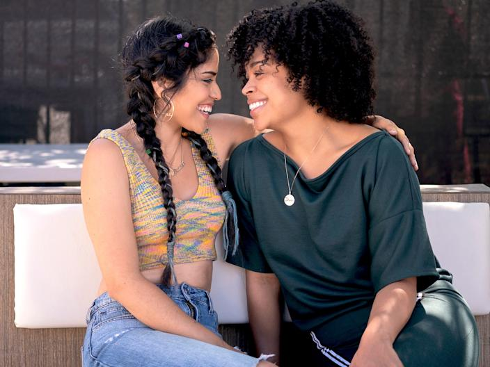"Karrie Martin and Julissa Calderon costar on Netflix's ""Gentefied."""