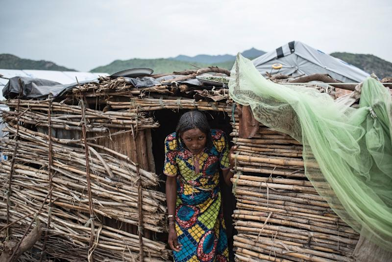 A Fulani woman in one of the camps (AFP Photo/STEFAN HEUNIS)