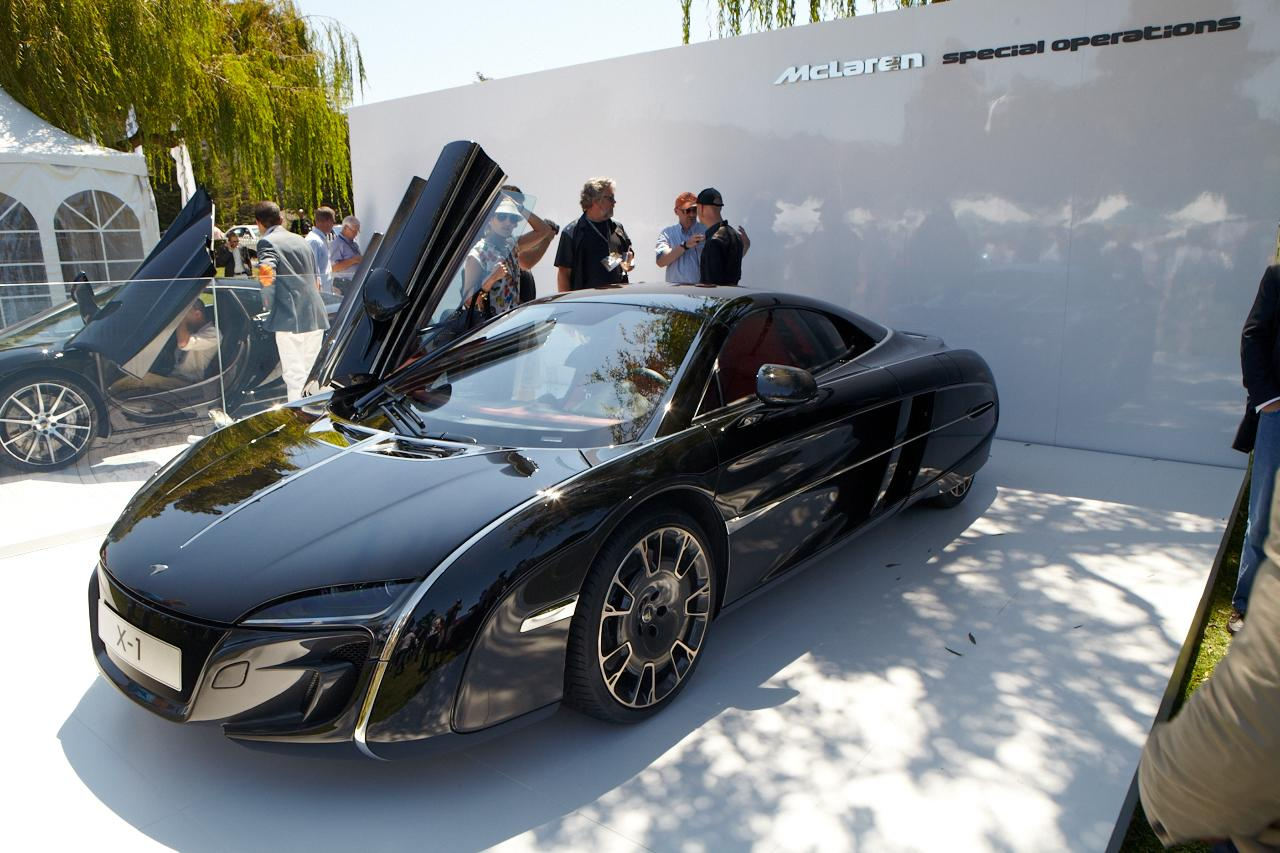 The only public appearance of the McLaren X-1