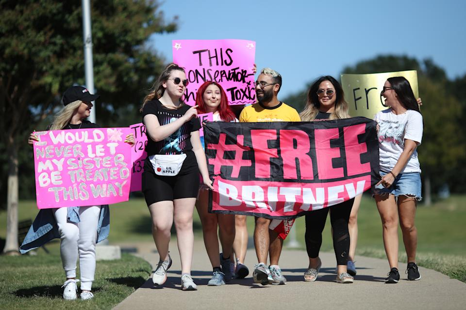 #FreeBritney campaigners have been fighting against the singer's conservatorship since 2019. (Photo: Omar Vega/Getty Images)