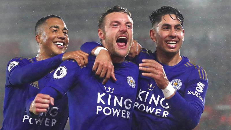 Leicester thumped Southampton 9-0 in a record-equalling drubbing. (Getty Images)