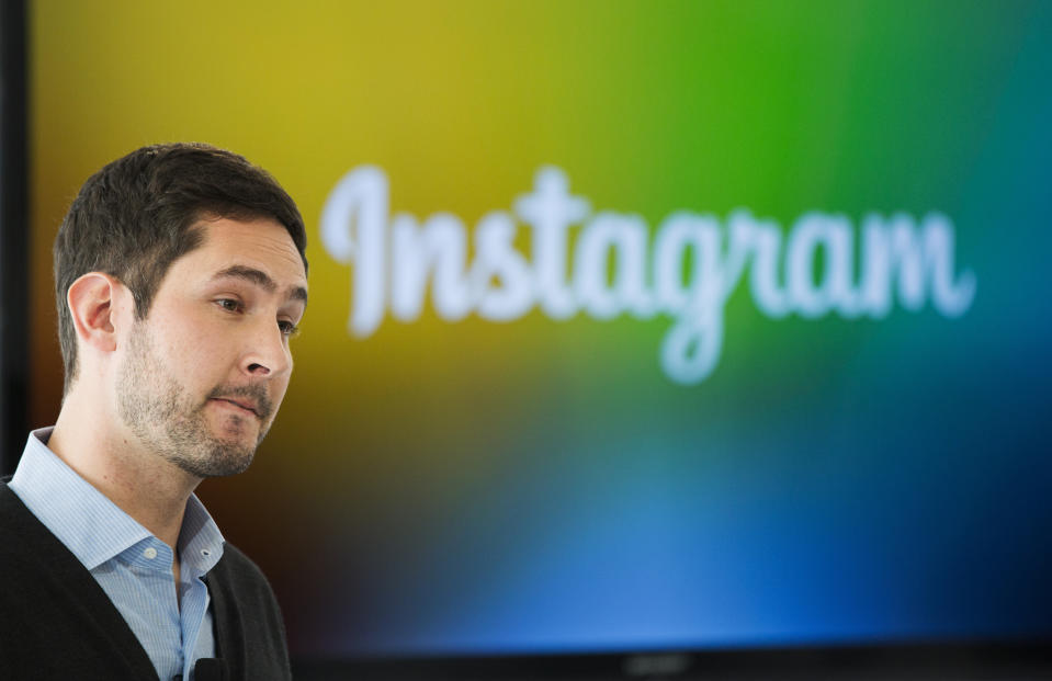 Instagram Chief Executive Officer and co-founder Kevin Systrom attends the launch of a new service named Instagram Direct in New York December 12, 2013. Photo-sharing service Instagram unveiled a new feature on Thursday to let people send images and messages privately, as the Facebook-owned company seeks to bolster its appeal among younger consumers who are increasingly using mobile messaging applications. The new Instagram Direct feature allows users to send a photo or video to a single person or up to 15 people, and have a real-time text conversations. REUTERS/Lucas Jackson (UNITED STATES - Tags: SCIENCE TECHNOLOGY BUSINESS LOGO)