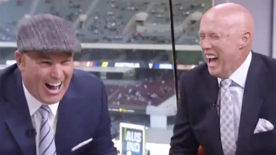 Kerry O'Keeffe's comic stylings on commentary for Fox Sports had Shane Warne in stitches. Picture: Fox Sports