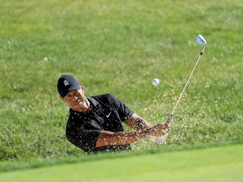 Tiger Woods plays in a practice round at Muirfield Village: Getty