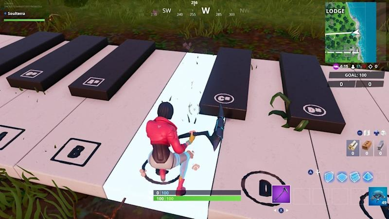 Fortnite Oversized Piano Keys