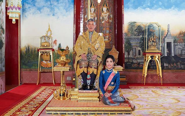 The move comes less than three months after Sineenat Wongvajirapakdi became the first woman named as royal consort in almost a century - AFP