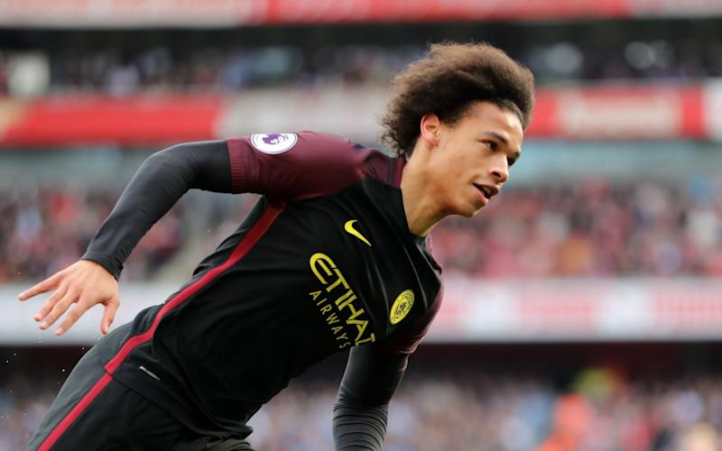 Sane faces Arsenal at Wembley on Sunday hoping to score against them again - Rex Features
