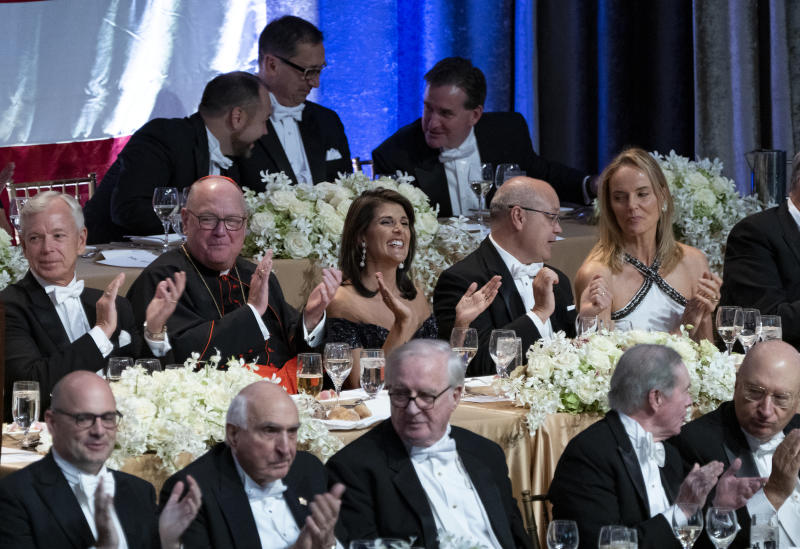 Nikki Haley Roasts Elizabeth Warren's 'Failed' DNA Test at Charity Dinner
