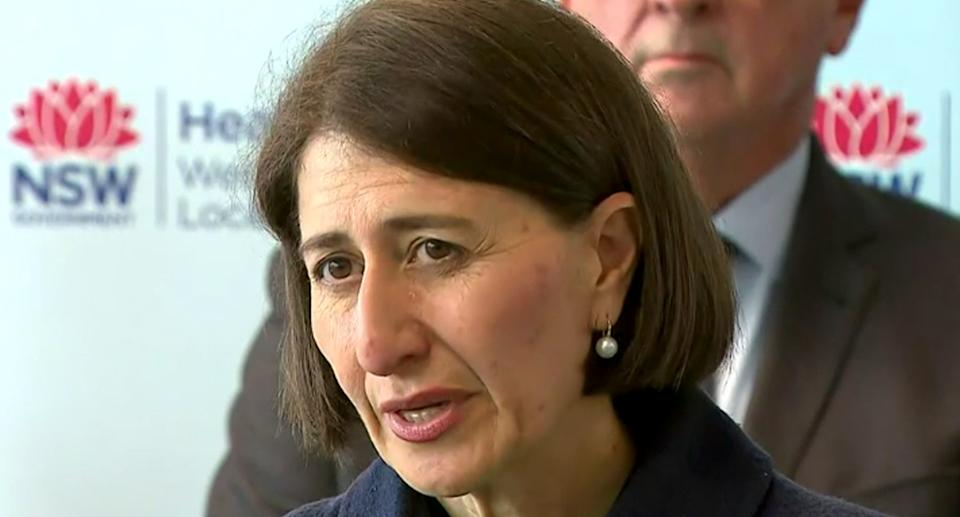 Premier Gladys Berejiklian has warned residents they may not yet have experienced the worst of the torrential weather. Source: ABC