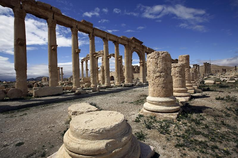 The ancient oasis city of Palmyra, in Syria, is listed as a UNESCO World Heritage site (AFP Photo/Joseph Eid)