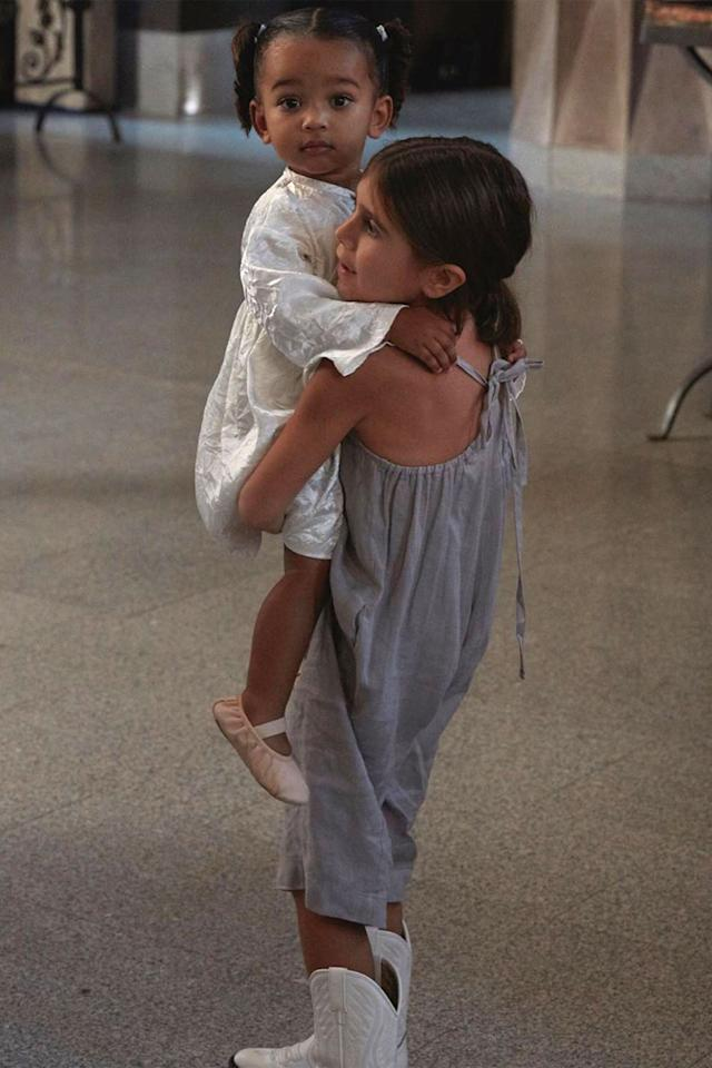 """Little Chicago doesn't have anything to worry about since cousin Penelope is there for life to carry her through anything. The cute pair were <a href=""""https://people.com/parents/kourtney-kardashian-daughter-penelope-holds-cousin-chicago-picture/"""">captured in action</a> by P's mom Kourtney, who appropriately captioned the photo of them: """"Heart explosion."""""""