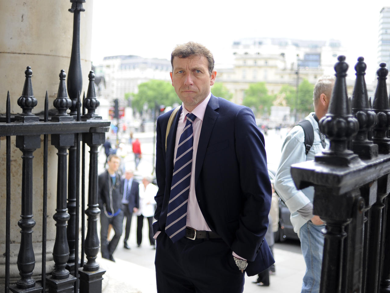 LONDON, ENGLAND - JUNE 24: Michael Atherton attends the Memorial Service for former Cricketer Tony Greig on June 24, 2013 in London, England. (Photo by Charlie Crowhurst/Getty Images)