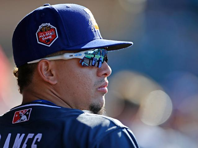 Willy Adames has hit the stuffing out of the ball the past two games. (AP Photo)
