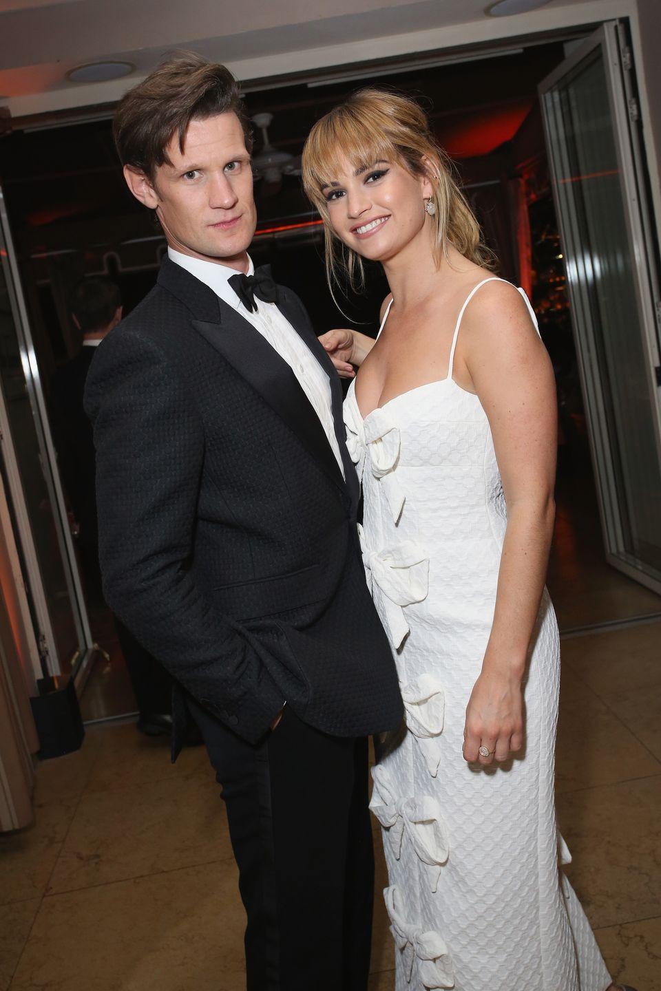 <p><strong>How long they've been together: </strong>The pair have been inseparable since first meeting on the set of <em>Pride and Prejudice and Zombies </em>in 2014. A year later, they confirmed their relationship with their red carpet appearance at the premiere of <em>Cinderella</em>. </p><p><strong>Why you forgot they're <strong>together</strong>: </strong>James and Smith started dating prior to their relative success in the United States (thanks to their roles on hit shows like <em>Downton Abbey </em>and <em>The Crown</em>). The pair tends to keep things between them hush hush, while leading a seemingly normal life together in London. </p>