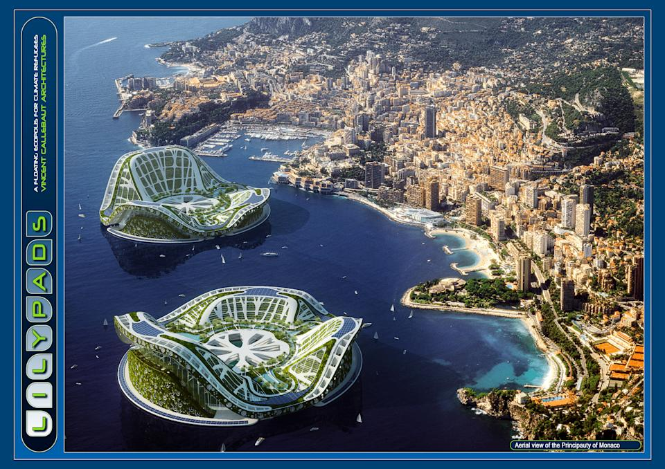 It reached a positive energetic balance with zero carbone emission by the integration of all the renewable energies (solar, thermal and photovoltaic energies, wind energy, hydraulic, tidal power station, osmotic energies, phytopurification, biomass) producing thus durably more energy that it consumes!