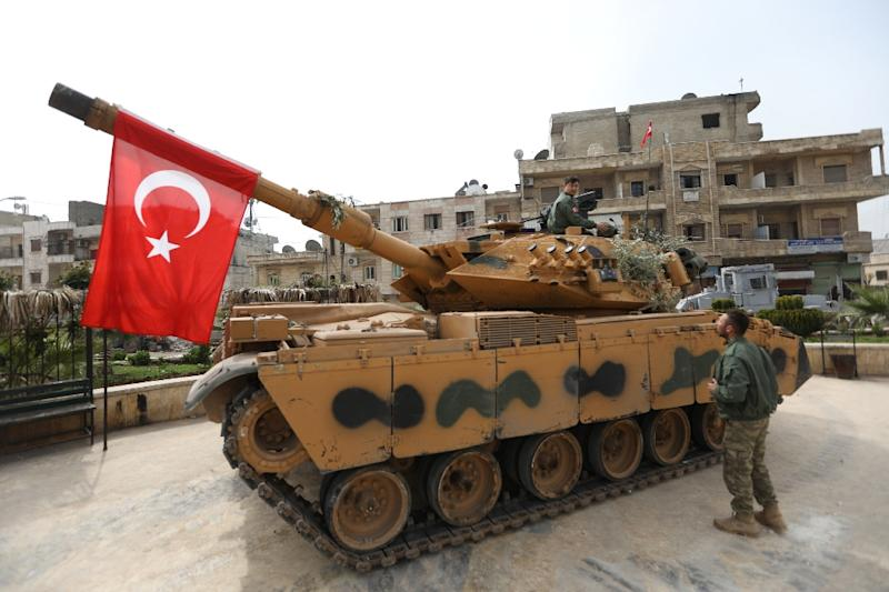 Turkey launched an offensive on January 20 to root a Syrian Kurdish militia out of Afrin (AFP Photo/OMAR HAJ KADOUR)