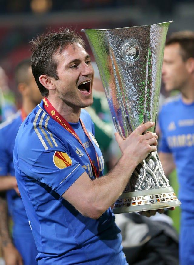 Lampard won his final trophy as a player in 2013 when Chelsea defeated Benfica 2-1 to triumph in the Europa League