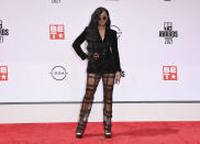 H.E.R. arrives at the BET Awards on Sunday, June 27, 2021, at the Microsoft Theater in Los Angeles. (Photo by Jordan Strauss/Invision/AP)
