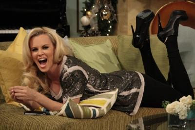 Jenny McCarthy strikes a pose on Access Hollywood Live on December 15, 2011 -- Access Hollywood