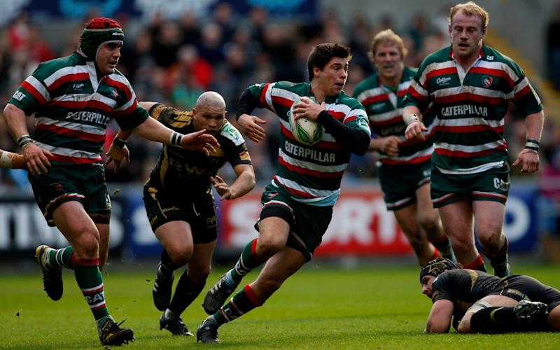 Tigers scrum half Ben Youngs breaks through a tackle during the Heineken Cup Round 6 Pool 3 match between Ospreys and Leicester Tigers at Liberty Stadium on January 23, 2010 in Swansea, Wales. - GETTY IMAGES