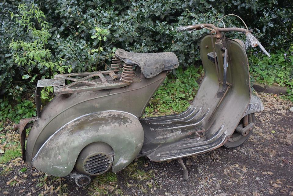 The Vespa scooter has had the same owner since 1955.