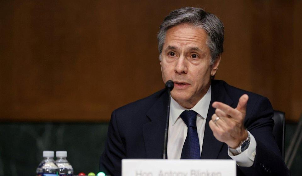US Secretary of State Antony Blinken testifies about his agency's budget before the Senate Appropriations Committee on Tuesday. Photo: Reuters