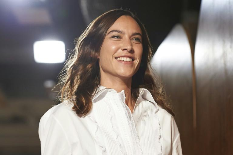 British designer Alexa Chung presented her first show inspired by travel