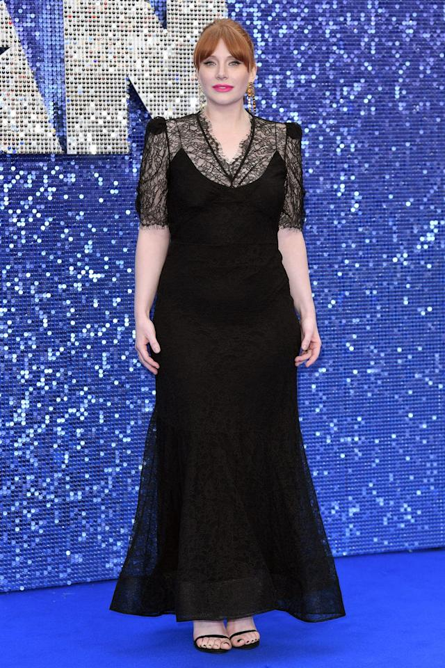 <p><strong>20 May </strong>Bryce Dallas Howard in an elegant lace dress. <strong></strong></p>
